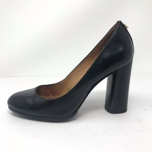 Coach Ophelia Leather Pumps Block Heel